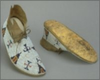 Plains Indian moccasins with rawhide sole.