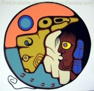 Brian Marion's painting - Buffalo Child