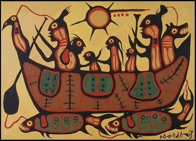Morrisseau's painting of the Ojibwa Migration