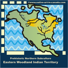 Map of Eastern Woodland Ojibwa territiory