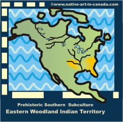 Map of Eastern Woodland Indians in the SE United States.