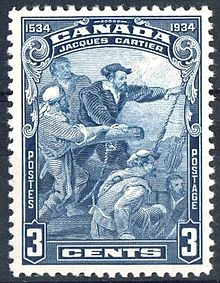 Canadian stamp honouring Jacques Cartier