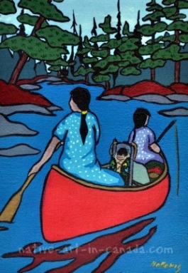 Quot Going To The Dentist Quot Is A Painting By The Ojibwa Artist