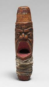 Northwest coast carved whistle.