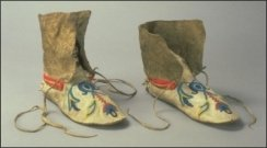 Moccasins - Chief Crowfoot 1880.