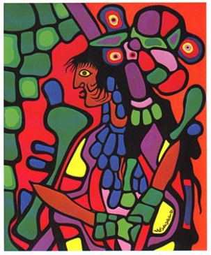 Painting by Norval Morrisseau entitled