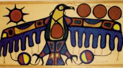Norval Morrisseau painting of a Thunderbird