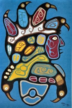 Roy Thomas - Ojibwa native artist | 277 x 415 jpeg 51kB