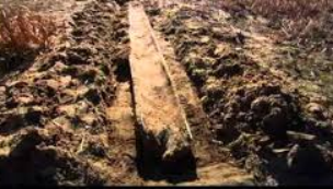 An ancient dugout canoe