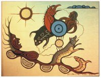 Carl Ray untitled legend painting,