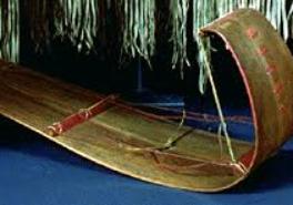 A traditional Ojibwa toboggan.